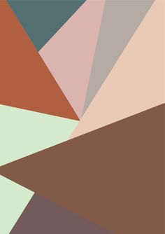 Brown, mint, peach, blush, grey, peacock color palette (by Nynne Rosenvinge)