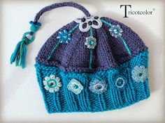 "Tricotcolor: "" Booste humeur "" en pagaille... Freeform Crochet, Knit Or Crochet, Crochet Hats, Knitting Patterns, Crochet Patterns, Crochet Woman, Cute Hats, Knitting Accessories, Kids Hats"