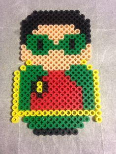 Robin from batman and robin mini people perler bead