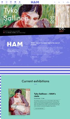 HAM Helsinki Art Museum website