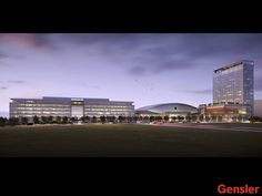 Dallas Cowboys headquarters & practice field renderings - Completion for 2016 season, Frisco, TX