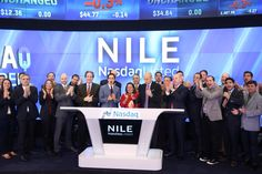 Blue Nile and @zacposen ring the #Nasdaq Opening Bell! #CyberMonday $NILE @bluenile