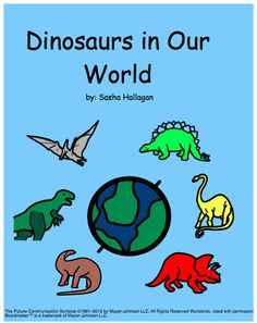 Adapted Dinosaur Book! Great for Children with Autism! product from The-Autism-Helper on TeachersNotebook.com