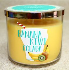 banana kiwi colada Candle by Bath and Body Works photo credit Ebayuser: makingsunshinehappen coming out this summer 2015