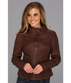 Lucky Brand Downtown Gypsy Leather Jacket Chocolate Brown - Zappos.com Free Shipping BOTH Ways