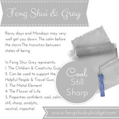Feng Shui and the colour grey.