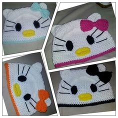 Chatter Box: Crochet hello kitty beanie