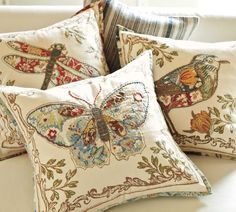 Pottery Barn - anna marie butterfly applique pillow cover
