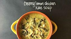 Creamy Crockpot Lemon Chicken Kale Soup