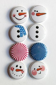 Snowmen-cookie painting ideas for Reilly.