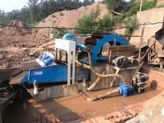 """our company""""s sand washing&dewatering machine working site,this machine realize   sand washing, fine sand 0.16-3mm selecting,recycling,and final sand dewatering,LZZG brand!"""