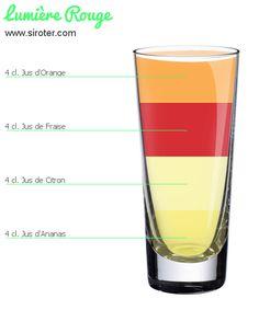 Cocktail Lumière rouge (sans alcool)