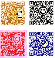 QR code to support, learn more about City Harvest. I like the artwork incorporated into the code