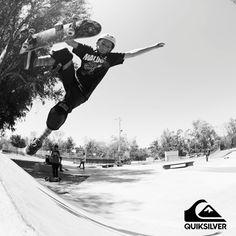 """""""Desde chico esta ha sido mi pasión"""" #Skate #ActitudQuik #Quiksilver"""