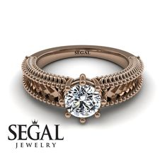 Flower Engagement Ring by Segal Jewelry Victorian Engagement Rings, Unique Diamond Engagement Rings, Engagement Rings For Men, Classic Engagement Rings, Beautiful Engagement Rings, Perfect Engagement Ring, Designer Engagement Rings, Diamond Rings, Engagement Ring Buying Guide