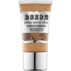 Buxom Show Some Skin Weightless Foundation found on Polyvore