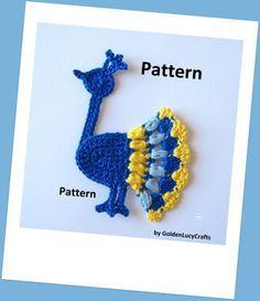 Peacock Applique Crochet Pattern | YouCanMakeThis.com