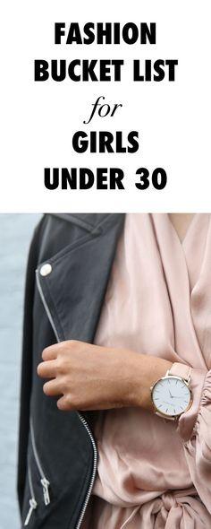Fashion Bucket List for Girls Under 30.
