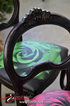 Sedie con rose Castèstyle arredi artistici esclusivi www.castestyle.com