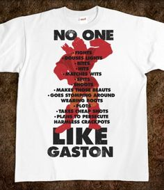 No One Like Gaston unisex heavyweight tee ($21.99 at SKREENED.com). No longer available but would love as a workout tank top with silhouette and legible print.