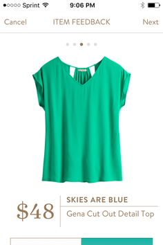 Skies Are Blue Gena Cut Out Detail Top