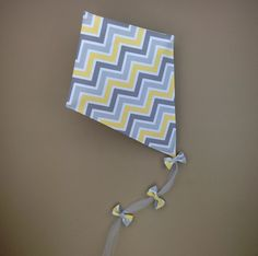 Kite Gray and Yellow Chevron by OMySoulStudio on Etsy https://www.etsy.com/listing/218709933/kite-gray-and-yellow-chevron