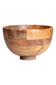 Bol grande de madera - Madera - HOME | H&M ES 1