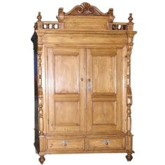 Neo-Gothic Armoire, circa 1870 | From a unique collection of antique and modern wardrobes and armoires at http://www.1stdibs.com/furniture/storage-case-pieces/wardrobes-armoires/