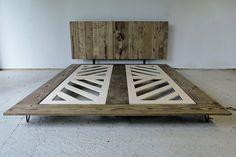 Minimalist-Reclaimed Wood Platform Bed by modernarks on Etsy