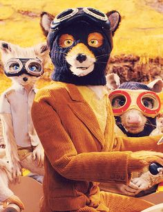 Fantastic Mr. Fox in balaclavas and goggles, a film by Wes Anderson. More images here: http://www.dazeddigital.com/the-grand-budapest-hotel-day