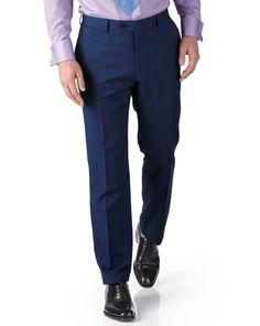 27de8d3c Charles Tyrwhitt Royal Blue Slim Fit Twill Business Suit Trouser 38W TD087  GG 06 #fashion