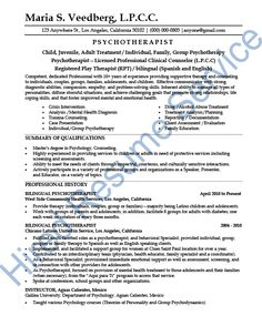 psychotherapist resume kleo beachfix co