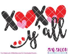 XOXO Y'all Valentine's Day SVG Cut File Set