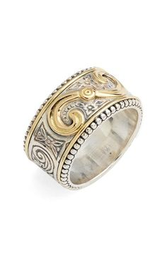 Konstantino 'Hebe' Swirl Etched Band Ring