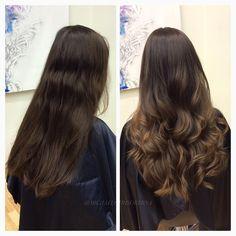 Kunden hade inte färgat håret på över 16 år(!) så hon ville inte ha en jätteförändring, men ändå ett varmare och ljusare intryck. Vi gör då en lättare balayage men behåller hennes egna grundfärg som är helt fantastisk, och nyanserar längderna i en guldig nyans som matchar hennes naturliga ton. Vilket fantastiskt hår! ⚜ #dreamhair #hairgoals #balayage