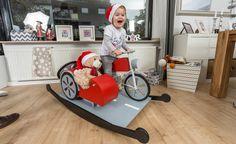 Unser Bauplanthema aus dem Heft 12/16 ist das Schaukelpferd-Motorrad bestehend aus Moped und Beiwagen. Das Gespann ist für Kinder ab zwei Jahren