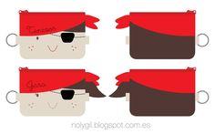 ♥ Noly Gil: ♥ Costureo: Monederos piratas para el cumpleaños de Tenesor