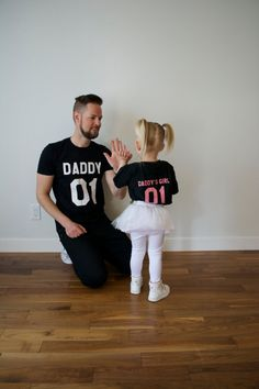 Daddy daddy's girl father daughter matching shirts by EpicTees4You