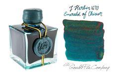 "Goulet Pens Blog: J.Herbin ""Emerald of Chivor"" Ink Available in August!"