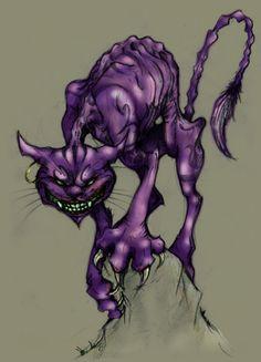McGee's Cheshire Cat by on deviantART Chester Cat, Cheshire Cat Art, Tim Burton Style, Creepy Cat, Cat Tattoo Designs, Alice Madness Returns, Mythological Creatures, Fantasy World, Dog Art