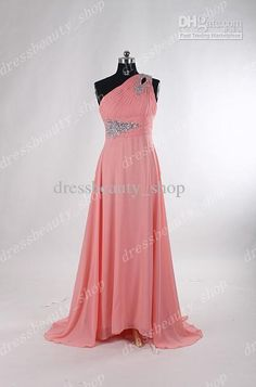 Wholesale 2013 Custom Made Chiffon Bling Shiny Crystals Beaded Coral Bridesmaid Dresses Beaded Prom Evening, Free shipping, $107.52-129.99/Piece | DHgate