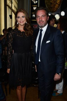 Princess Madeleine of Sweden and Christopher O'Neill attend the Valentino show as part of Paris Fashion Week Haute-Couture Fall/Winter 2013-2014 at Hotel Salomon de Rothschild on July 3, 2013 in Paris, France.