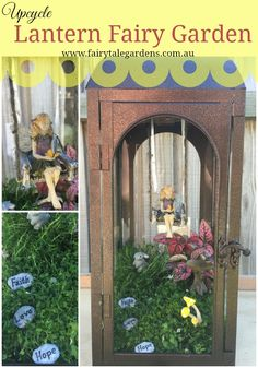 View how to make this amazing fairy garden in a Lantern plus many more fantastic ideas at Fairytale Gardens.