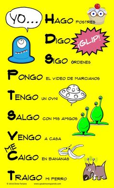 FREE Poster from Speak More Spanish See our Teachers Pay Teachers store for more free posters, games and activities for learning Spanish. Spanish Grammar, Spanish 1, Spanish Teacher, Spanish Classroom, Teaching Spanish, Spanish Language, Spanish Vocabulary, Classroom Ideas, Learn To Speak Spanish