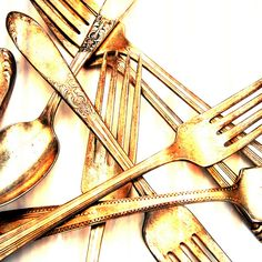 Vintage Silverware by Kokabella, via Flickr
