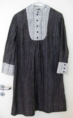 Vintage Marimekko Babydoll Dress from The 1960s 1970s in Black Grey and White | eBay