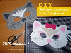 C'est bientôt carnaval, l'occasion de faire de jolis masques à vos enfants grâce à ce tuto de masques de chats. Version fille et garçon