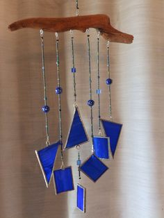 Stained Glass Driftwood Windchime by SunWindGlass on Etsy, $28.00