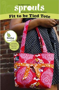 Sewing Lesson  Fit to be Tied Tote eclass by twopeasinapoddesigns, $20.00