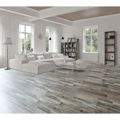 Floors for main room/ kitchen / hallways. Shop Goodfellow x Weathered Barnwood Oak Luxury Vinyl Plank at Lowes Canada. Find our selection of vinyl flooring at the lowest price guaranteed with price match 10 off. Grey Vinyl Plank Flooring, Luxury Vinyl Flooring, Luxury Vinyl Plank, Grey Laminate Flooring, Grey Hardwood Floors, Modern Flooring, Linoleum Flooring, Timber Flooring, Stone Flooring